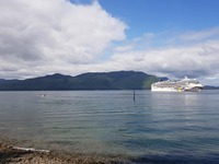 NCL Jewel docked at Icy Strait