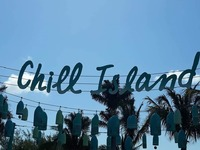 Chill Island sign