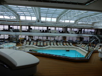 The upper pool deck on the Nieuw Statendam