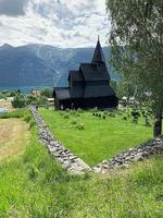The 12th-century Urnes stave church.