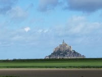 Approaching Mont St. Michel in Normandy, France