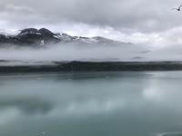 View from our cabin at Glacier Bay