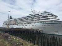 Crystal Symphony docked in Astoria, OR