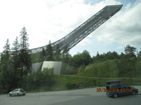 Holmenkollen 1952 Winter Olympic Ski Jump on a very windy day