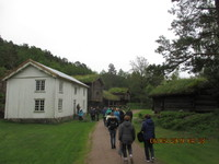 Kristiansand log cabins at Vest Agder Heritage Open Air Museum