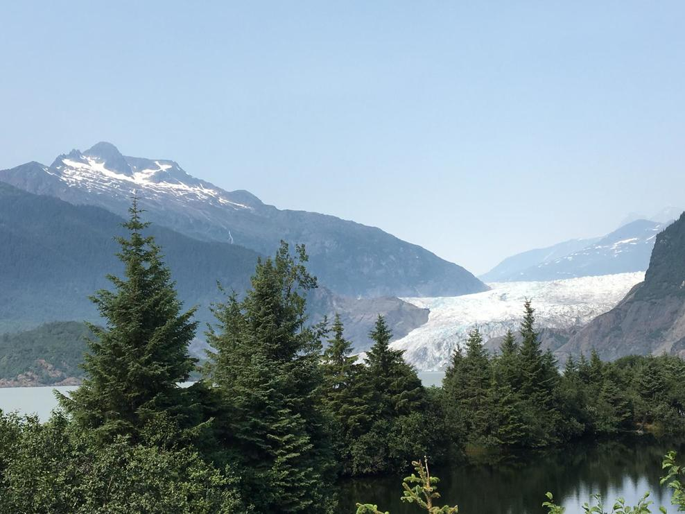 Mendenhall Glacier from distance