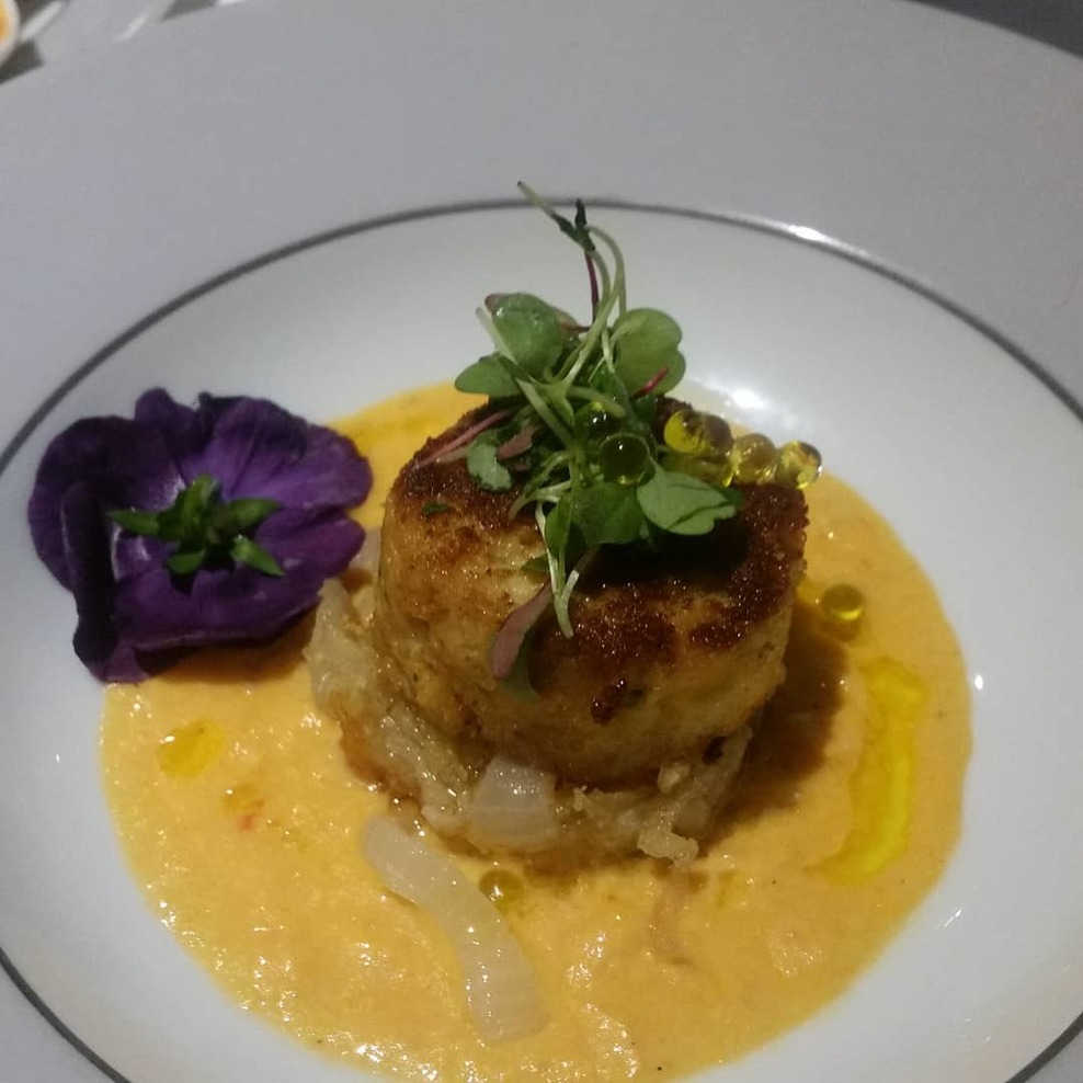 Crab cake in Surf and Turf