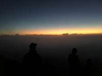 Sunrise at Haleakalā Crater in Maui. We did this excursion through Norwegi