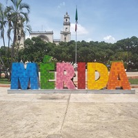 Merida City during excursion in Progreso