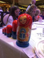 Russian doll painting activity on board