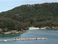 Labadee-RCL private island- view from the ship