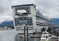 The Golden Princess, home away from home while in Alaska.