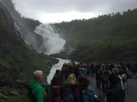 Waterfall stop on Flam railway