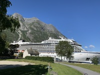 Viking Sea docked at Eidfjord, Norway