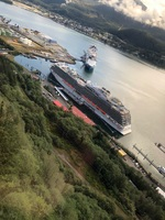 Royal Princess from the Mt. Roberts Tramway in Juneau