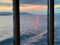 Alaska sunset - view from Pinnacle Lounge - Holland America Westerdam