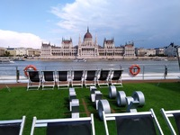 Sundeck, Emerald Dawn, docked in Budapest