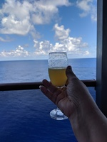 Enjoying mimosa on the balcony
