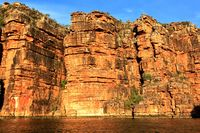 King George River 80 meters high gorge.
