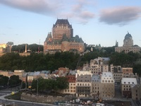 Our view during breakfast in Quebec,