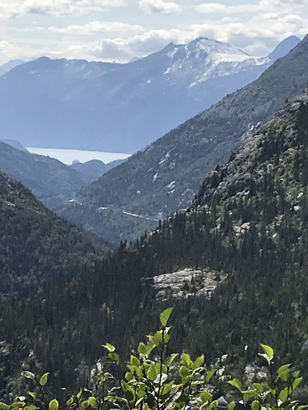 View from the White Pass train ride in Skagway.