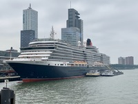 Rotterdam after our fabulous Cunard tour to Delft.