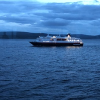 Another Hurtigruten ship passing in the night