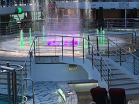 Dancing waters in from of Movies under the Stars on the Lido deck.
