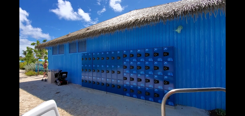 Lockers at Cococay