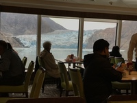 South Sawyer Glacier - view from Garden Cafe (buffet style restaurant).