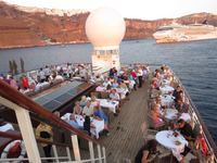 Deck BBQ in Santorini