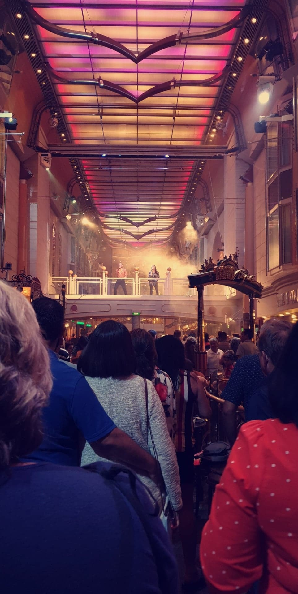 70's Night on the ship had a great performance in the Royal Promenade