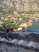 Kotor - walking up the precarious steps to St Johns Fortress