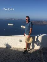 Thera, Santorini after walking up the steps...easier than Kotor.