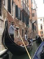 Our first shore excursion was a gondola ride
