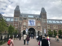 Rijksmuseum in Amsterdam. It's a good idea to get tickets before you go.