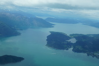 The Fjords from a sea plane