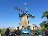 This is a windmill at Kinderdijk