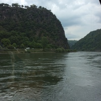 The Lorelei on the Rhine River as seen from the ship