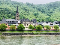 A quaint German town on the banks of the Rhine