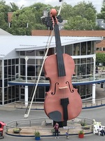 Giant Violin which is located at the port in Sydney Nova Scotia