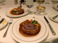 Surf and turf (Beef Wellington and lobster tail)