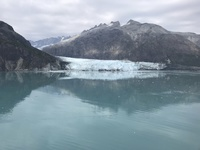 The end of the glacier going right to the Glacier Bay!