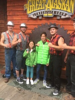 Lumberjack show and nice picture with the wining team!!!
