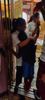 Carnival's spa staff hugging my son, apologizing.