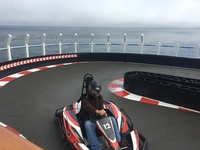 Race car track on top deck