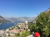 Steps up to Castle ruins in Kotor Montenegro