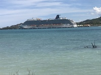 Cruise ship from amber cove