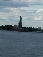 Statue of Liberty. The ship went past.