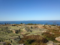 View from the top of Cadillac Mountain, Bar Harbor.